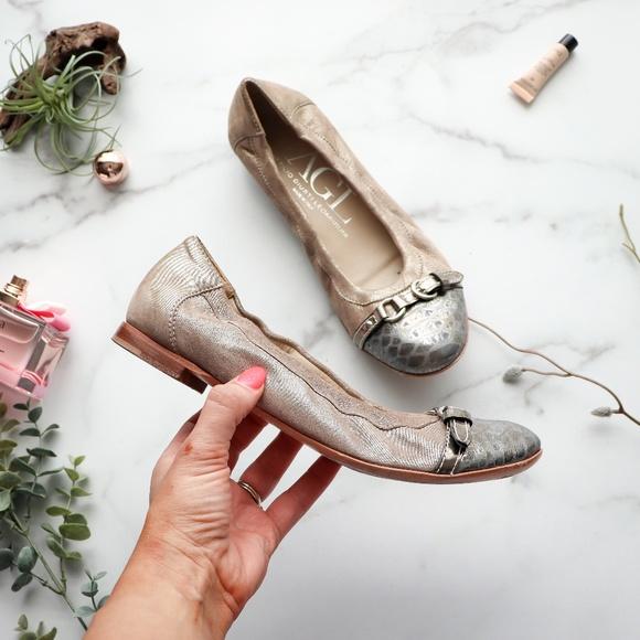 Agl Shoes - AGL ATTILIO GUISTI LEOMBRUNI Cap toe ballet flat